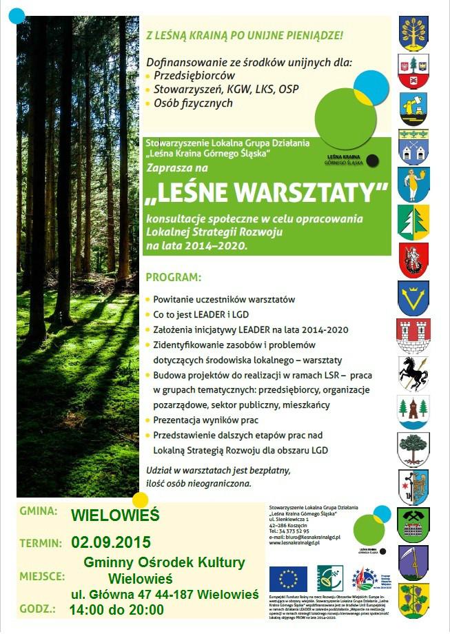 Leśne Warsztaty w gminie Wielowieś