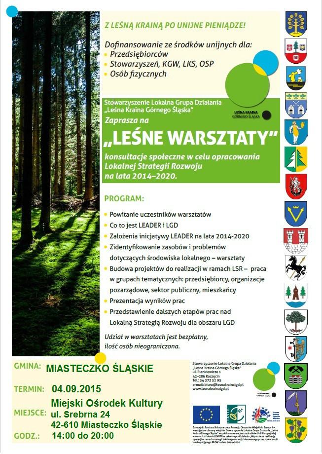 Leśne Warszaty w gminie Miasteczko Śląskie